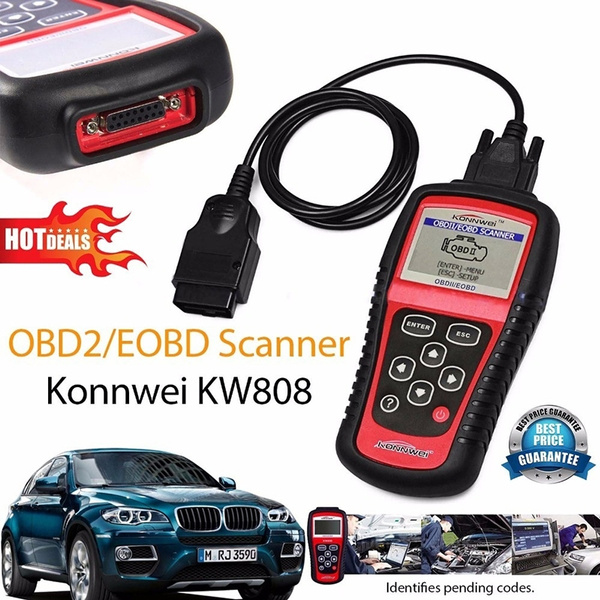 H KW808//EOBD//OBDII//OBD2 Car Fault Code Reader Vehicles Scanner Diagnostic Tester
