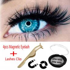 6fbebde957d AU Triple Magnetic Eyelashes 3D Handmade Mink Reusable False Magnet ...