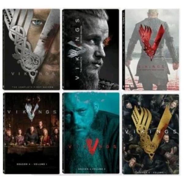 Vikings Complete Series Seasons 1 2 3 & 4 Volume 1 & 2 + Season 5 Volume 1  Movies Popular American TV Series Poster