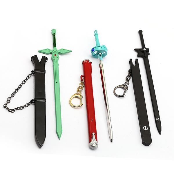Sword Art Online Anime Kirito Black Elucidator Key Chain