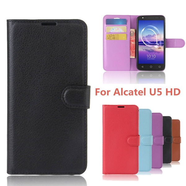 more photos 867f0 8eef6 For Alcatel U5 HD Case Cover 5.0 inch Wallet PU Leather Back Cover Phone  Case For Alcatel U5 U 5 HD 5047D 5047 5047Y Case Flip