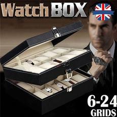 Box, velvet, watchdisplay, leather