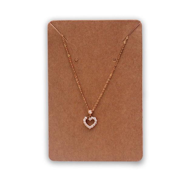 Kraft Paper Necklace Display Holder Hanger Cards Tags Craft Market Jewellery Diy Wish