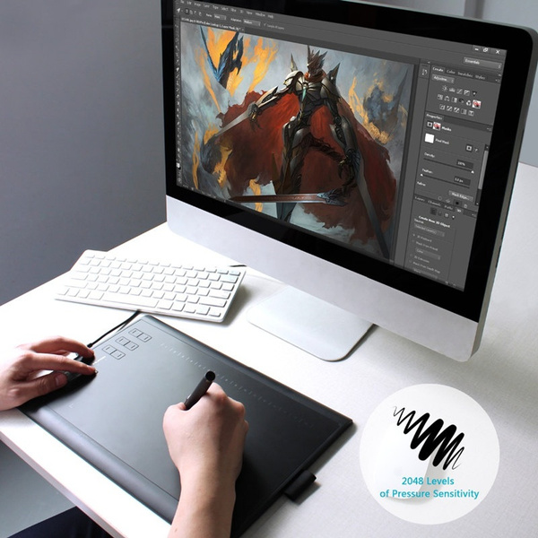 Original HUION 1060 Plus Kit Graphic Tablet 8 GB Built in Card Reader  5080LPI Resolution with Digitizer Pen 10