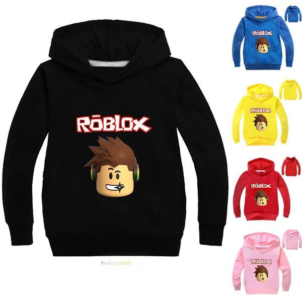 Boys Roblox Print Sweatshirts Long Sleeve Hoodies For Kids Cotton