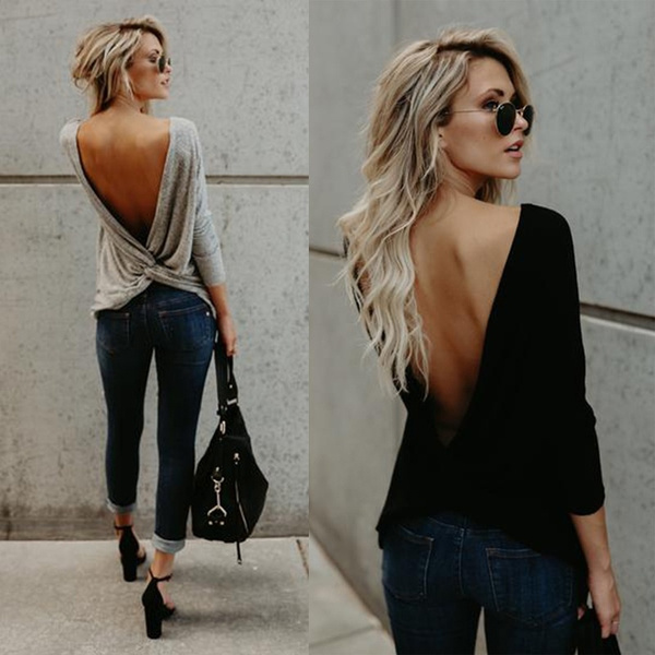blouse, Fashion, women39sfashion, openbackblouse