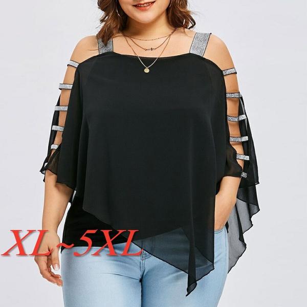 blouse, strapless, Plus Size, Tops & Blouses
