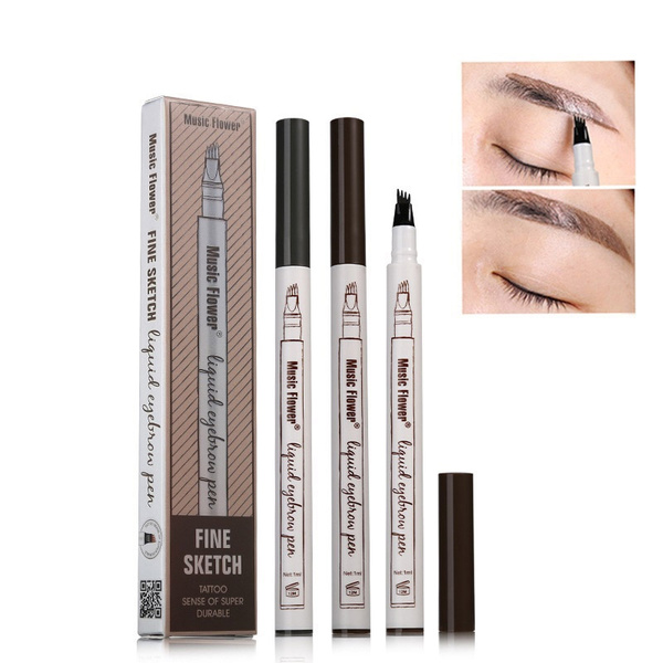 Wish 3 Colors Super Natural Four Tip Eyebrow Maker Pen 24 Hours
