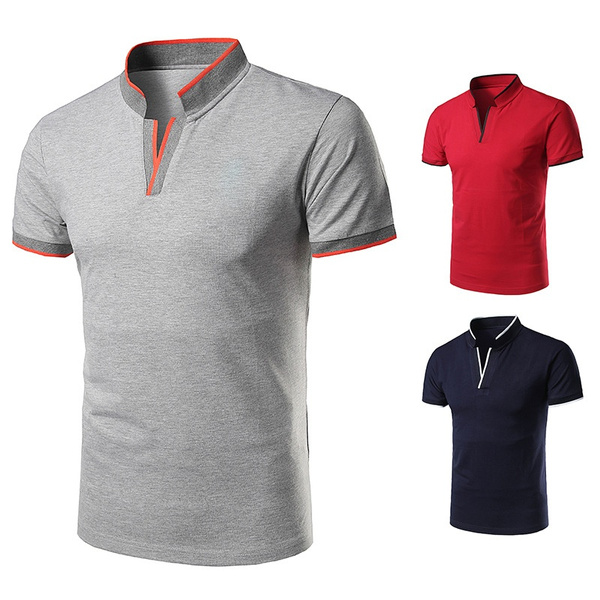 Fashion, Polo Shirts, Pure Color, summer t-shirts