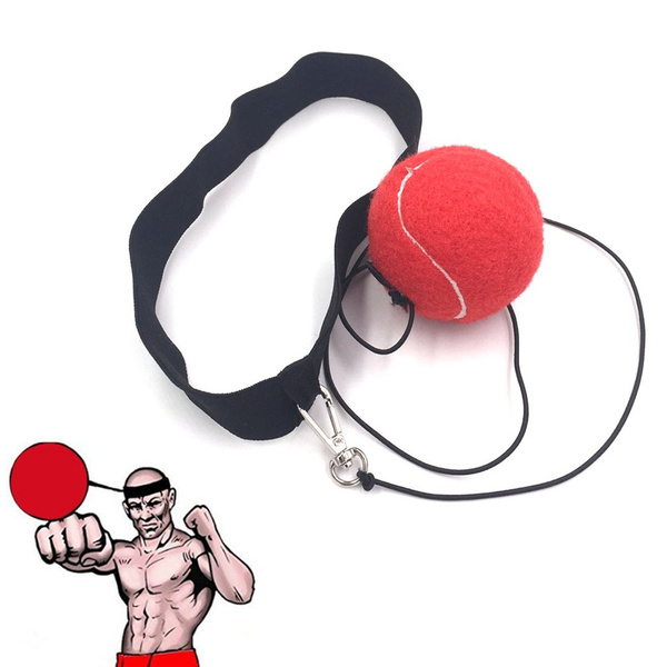 Boxing Combat Fight Ball W//Head Band For Reflex Speed Training Punching Exercise