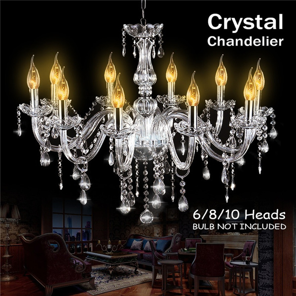 Modern Crystal Chandelier Lamp Pendant Fixture Lights 6 Ceiling Lighting Decor