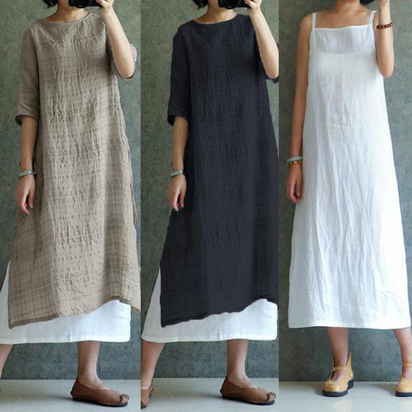 Summer, Cotton, Shorts, longtop