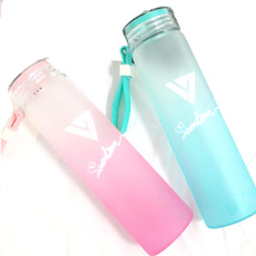 KPOP SEVENTEEN 17 Cup AI1 Gradient Glass Water Bottle Frosted Drink WONWOO DK