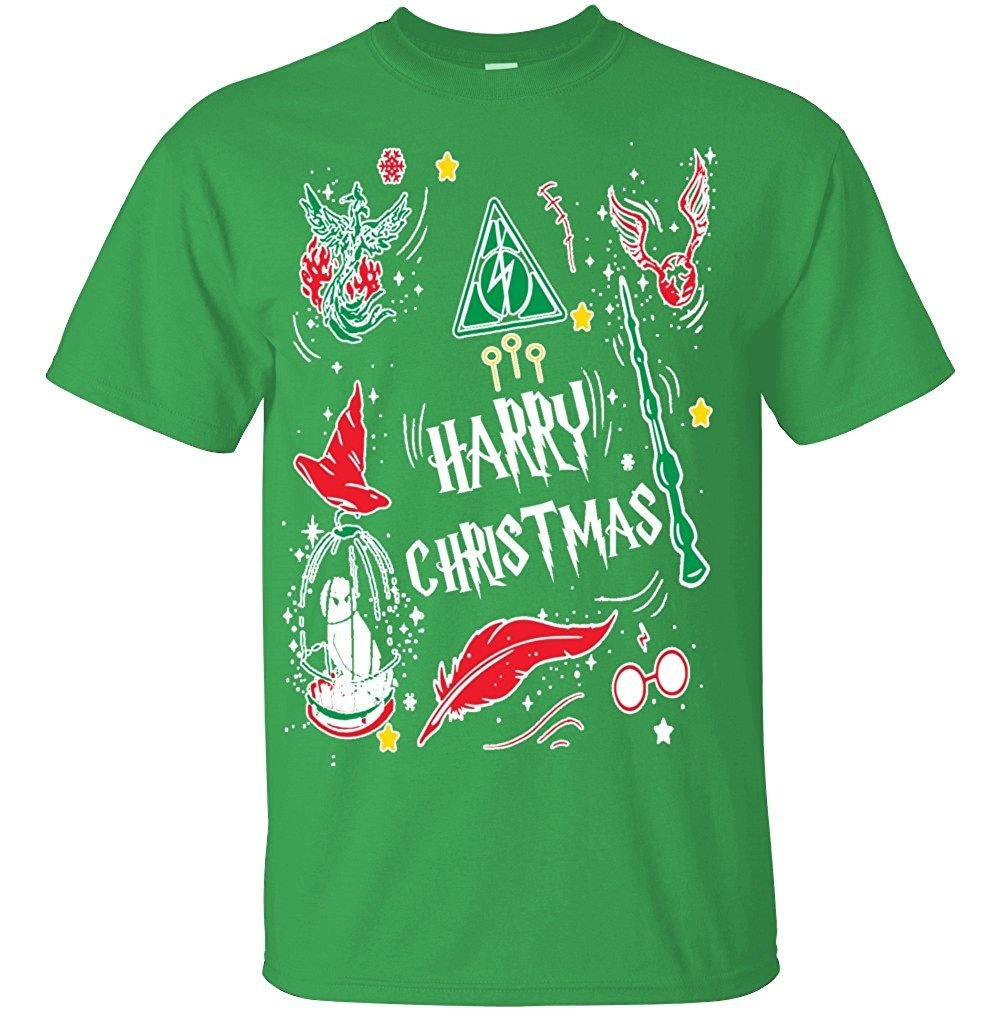 02447af1a Adult Harry Christmas Potter T Shirt Ugly Christmas Sweater Awesome ...