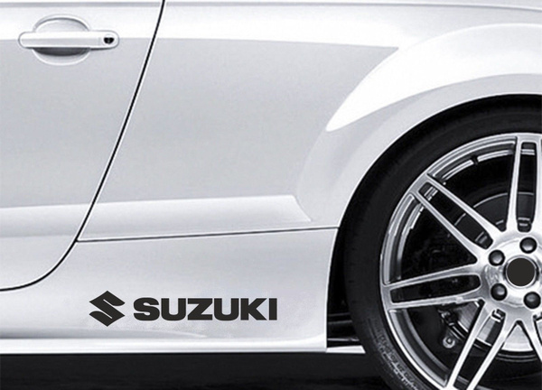 2pcspair 2 X Seite Rock Aufkleber Passt Suzuki Logo Swift Auto Prämie Qualität Bl97