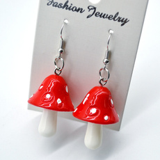 cute, Dangle Earring, earringforwome, Mushroom