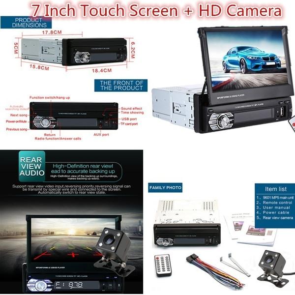 Zeepin 9601G Car Video MP5 Player 7 Inch HD Touch Screen Bluetooth FM Radio  European GPS Map USB Auto Multimedia Autoradio