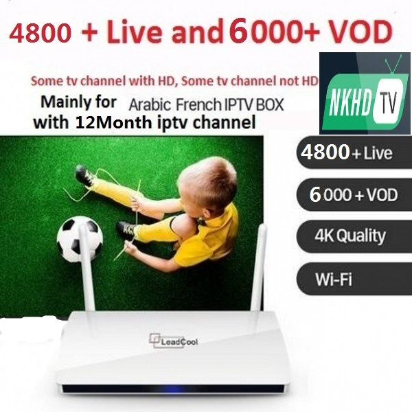 IPTV Box Leadcool Smart Android TV Box with 1 Year QHDTV IPTV Subscription  1300 Channels Turkish French IPTV Box some tv channel hd, some tv channel