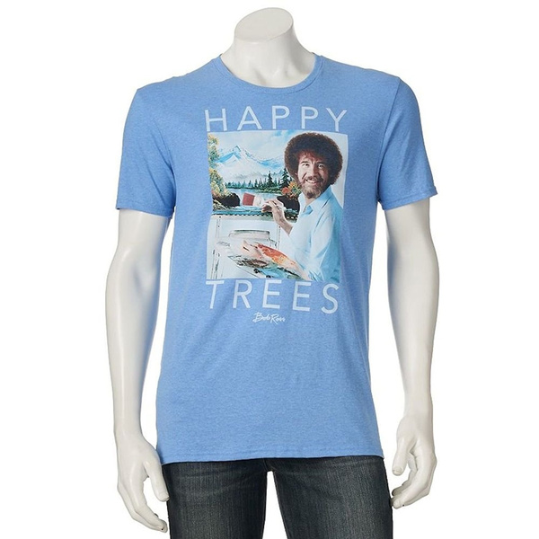 16a1e65fc Geek | Bob Ross Shirt Happy Trees Letter Print Women Tshirts Cotton Casual  Funny T Shirt for Lady Top Tee Hipster Hip Hop Punk Shirt