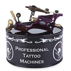 tattoo, tattoobodyart, purple, motortattoomachinegun