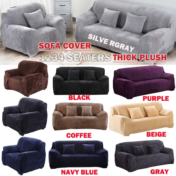 1 2 3 4 Seaters Thick Plush Recliner
