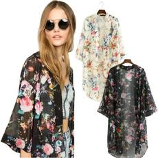 Summer, Fashion, chiffon, Coat