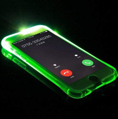 phone Case,Colorful blink Flashlight case / Soft TPU Skin / Shell  Transparent LED Incoming Call LED Blink Flashlight Case for iPhone 6  /iphone 6 plus