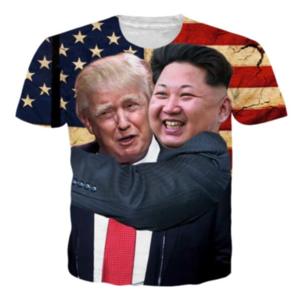 3d T-Shirt Casual Printed Kim jong Un Funny Women Men Short Sleeve Tops Tee