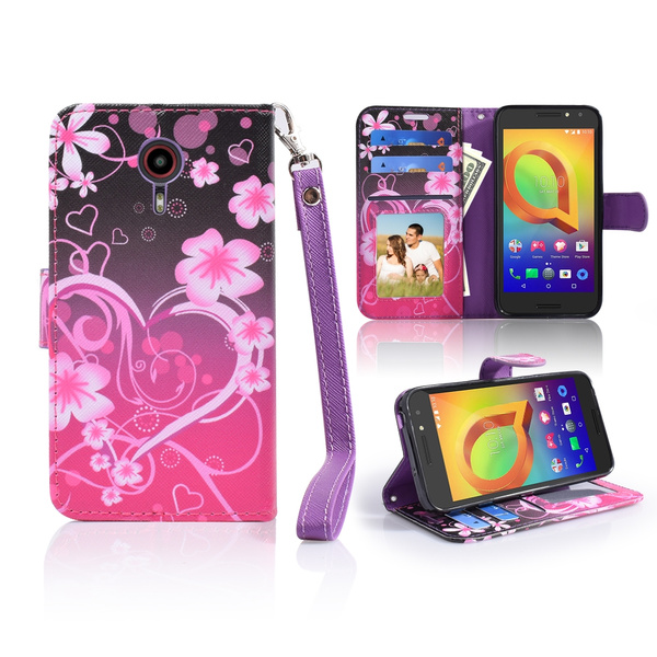 FOR ZTE N817 MAGNETIC PU Leather Wallet Pouch Kickstand Case