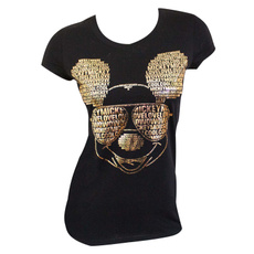 Fashion, Tank, Shirt, gold