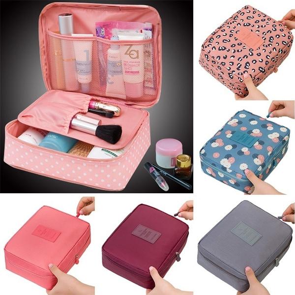 9e367b48c322 Neceser Rushed Floral Nylon Zipper New Women Makeup bag Cosmetic bag Case  Make Up Organizer