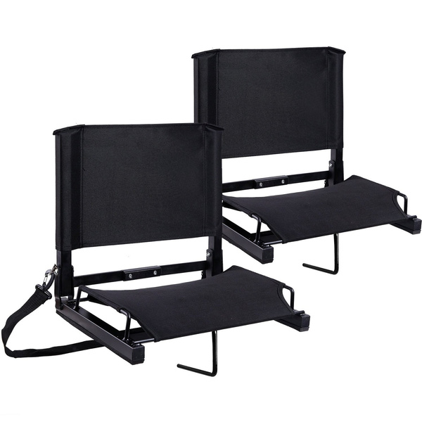 Stadium Chairs With Backs.Bleacher Seats Chairs Ohuhu Stadium Seat With Backs And Cushion Folding Portable Bonus Shoulder Straps 2 Pack
