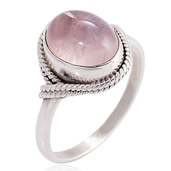 rosequartzring, moonstonering, quartz, Jewelry