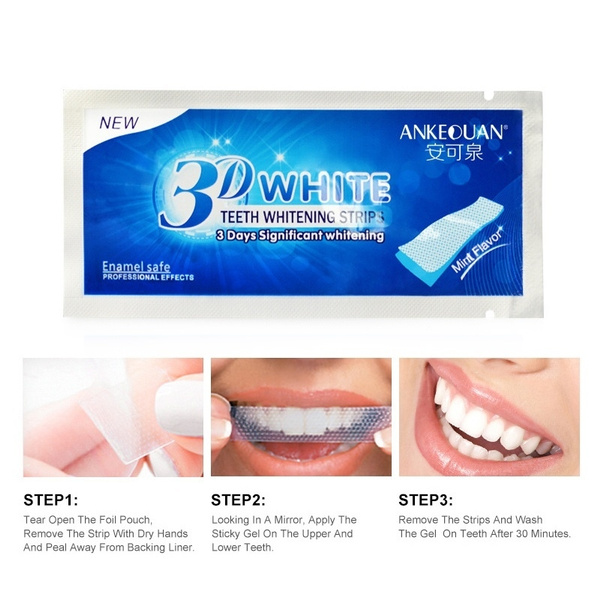1pc Crest 3d White Gel Teeth Whitening Strips Luxe Professional