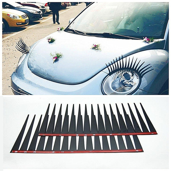 Home A Pair 3d Automotive Eyelashes Car Eye Lashes Auto 3d Eyelash