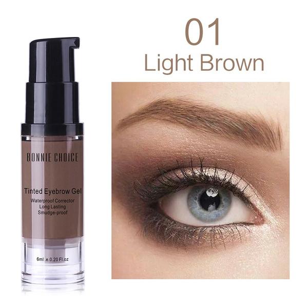 Wish 6ml Eyebrow Tint With Brush Kit Brown Brow Gel Cream Make Up