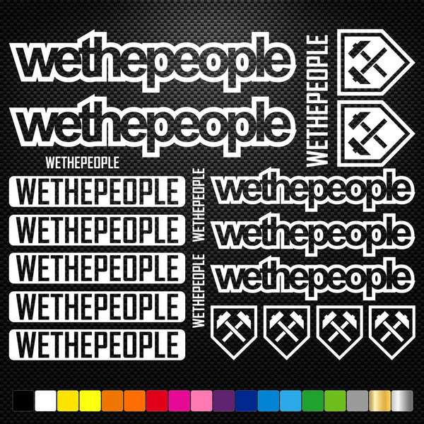 We The People Vinyl Decals Stickers Sheet Bike Frame Cycle Cycling Bicycle Mtb