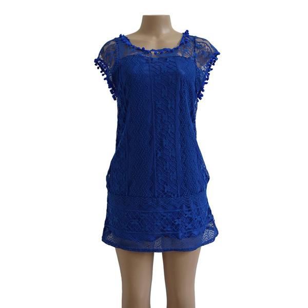 33590428c088 Wish   UZZDSS Summer Dress 2018 Women Casual Beach Short Dress Tassel Black  White Mini Lace Dress Sexy Party Dresses Vestidos S-XXL