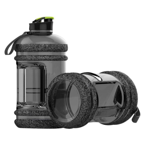 2L Large BPA Free Sport Gym Training Big Drink Water Bottle Cap Kettle Workout