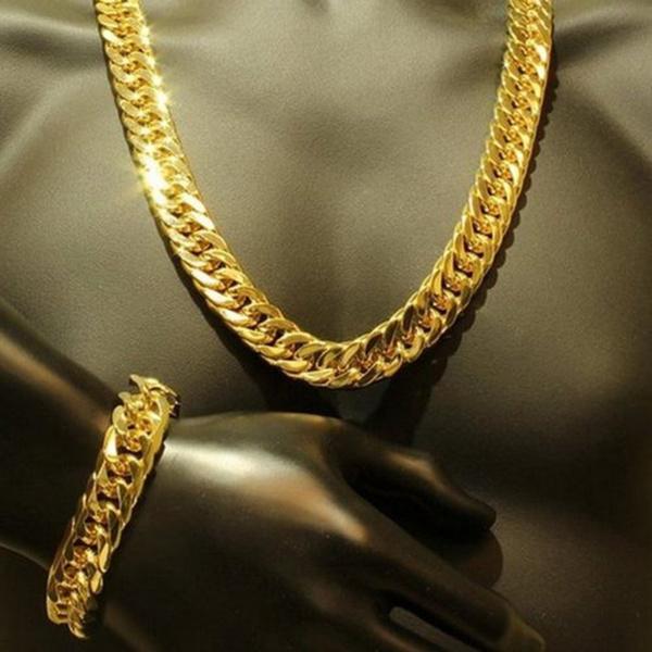 Heavy, yellow gold, 18k gold, Jewelry