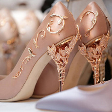 Flowers, Womens Shoes, pointed, Rhinestone