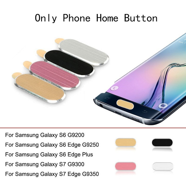 Edge Home Button Sticker Metal Protective Case Skin For Samsung Galaxy S6 S7 NEW