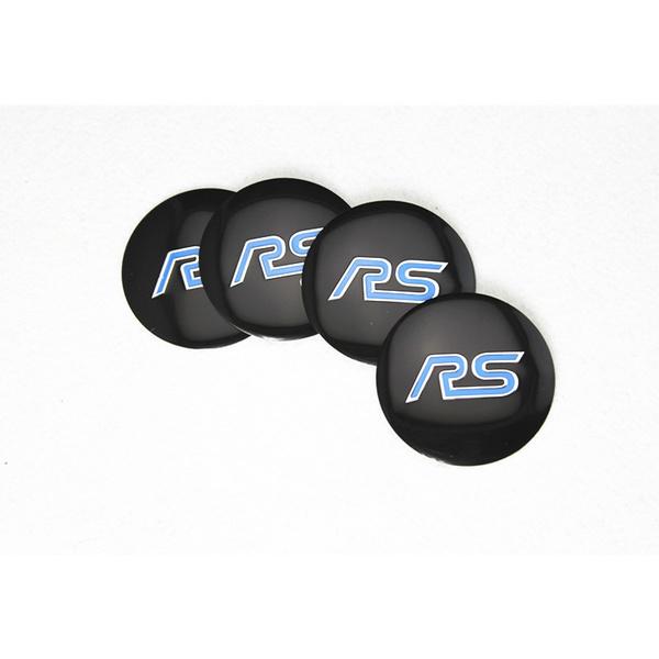 4pcs 56 5mm Car RS Letter 56mm Black Blue Custom Alloy Aluminum Metal Rim  Hub Wheel Center Centre Cap Sticker Emblem Logo Cover