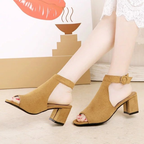 bfff0507234 Women Pumps 2018 Crystal High Heels Brand Design Sexy Gladiator Thin Heels  Women Rhinestone Buckle Strap Party Shoes