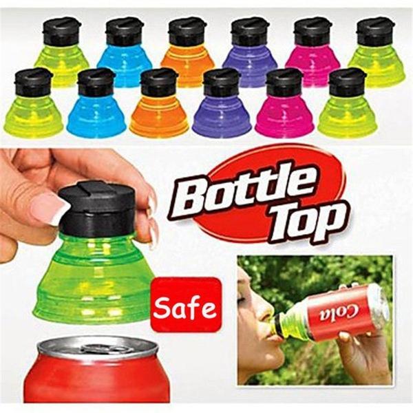 6Pcs Soda Saver Beer Beverage Can Cap Flip Bottle Lid Top Protector Snap On Hot