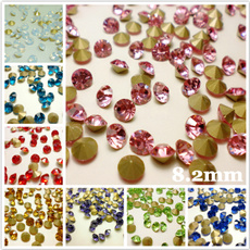 SS6.5 Rhinestones Point back Crystals Round Glass Strass Nail Art 2.0mm 2880ps