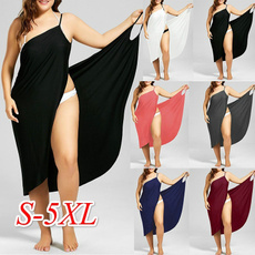 Summer, coverupsampbeachdresse, Plus Size, long dress