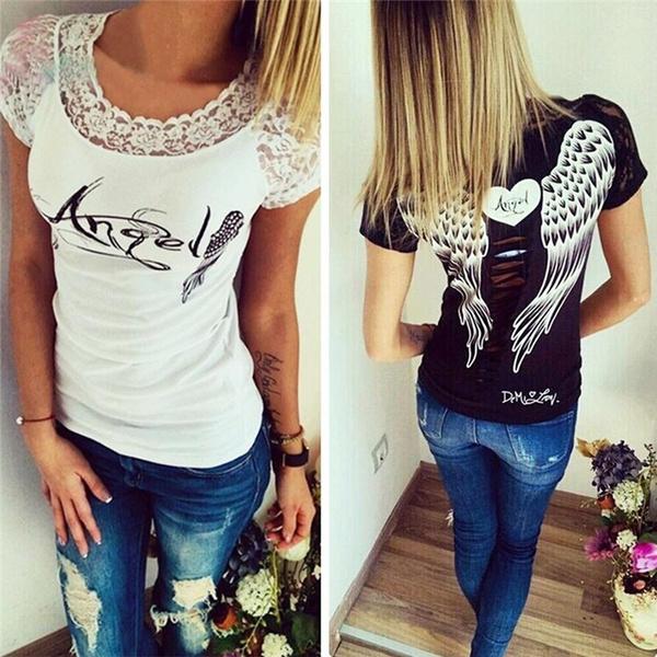 Fashion, Stitching, Shirt, Angel
