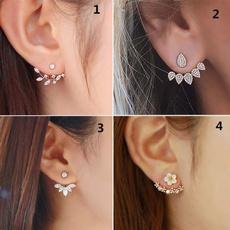 Stud Earring, bouclesdoreillesencristal, Rhinestone, bouclesdoreillesenor18carré