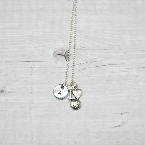 Volleyball Necklace-She Believed